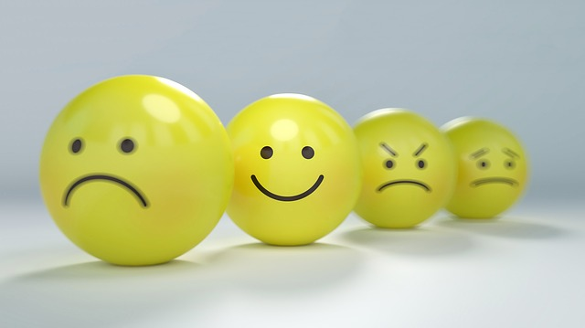 yellow balls decorated with emojis
