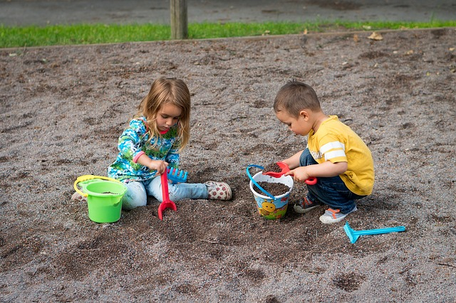 kids playing in a park